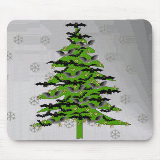 Batty Christmas Tree Mouse Pad