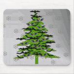 Batty Christmas Tree Mousepads