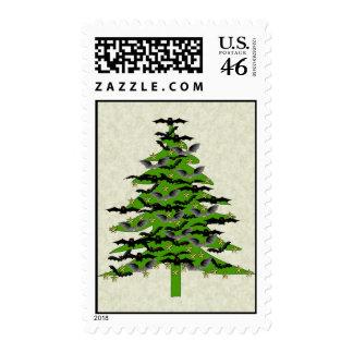 Batty Christmas Tree Postage Stamps