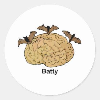 Batty Classic Round Sticker
