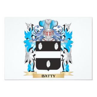 Batty Coat of Arms Personalized Invitations