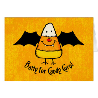 Batty For Candy Corn Stationery Note Card