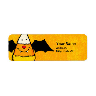 Batty For Candy Corn Label