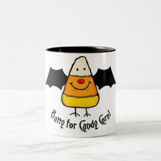 Batty For Candy Corn Two-Tone Coffee Mug