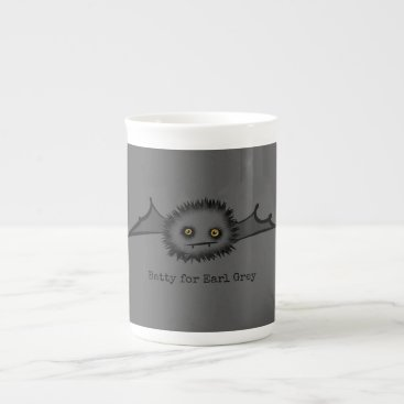 Halloween Themed BATTY FOR EARL GREY Cute Vampire Bat Tea Cup