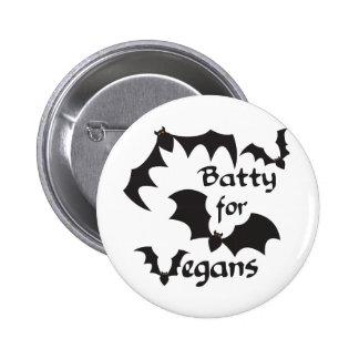 Batty for Vegans Button