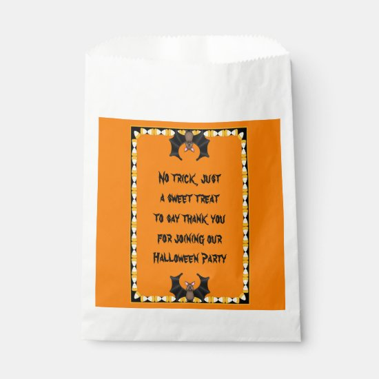 Batty Halloween Favor Bags