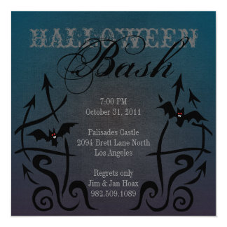 Batty Halloween Invitations