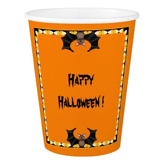 Batty Halloween Paper Cups