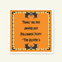 Batty Halloween Paper Napkins