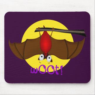 Batty Halloween w00t bat Mouse Pad