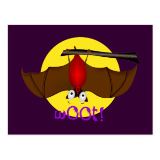 Batty Halloween w00t bat Postcard