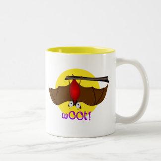 Batty Halloween w00t bat Two-Tone Coffee Mug