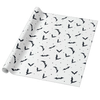 Batty Halloween Wrapping Paper