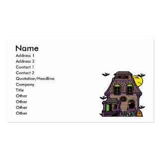 Batty Happy Haunted Home Business Card
