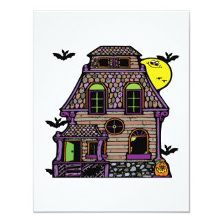 Batty Happy Haunted Home Personalized Announcements