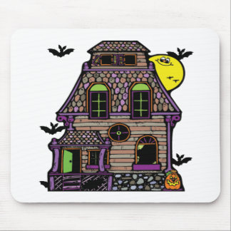 Batty Happy Haunted Home Mouse Pad