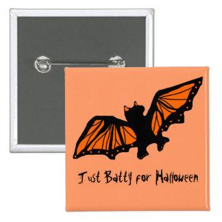 Batty, Just Batty for Halloween button