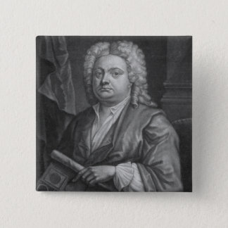 Batty Langley, print made by J. Carwitham, 1741 Pinback Button