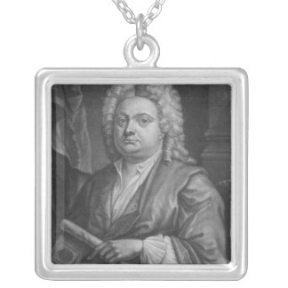 Batty Langley, print made by J. Carwitham, 1741 Silver Plated Necklace