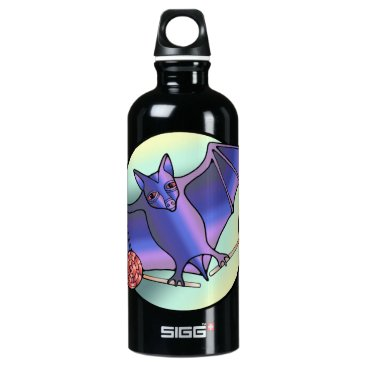 Halloween Themed Batty Lollipops Aluminum Water Bottle
