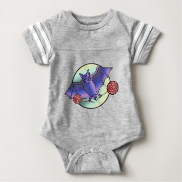 Halloween Themed Batty Lollipops Baby Bodysuit