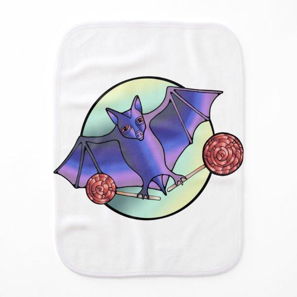 Batty Lollipops Burp Cloth