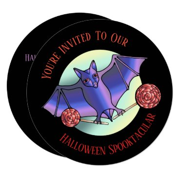Halloween Themed Batty Lollipops Card