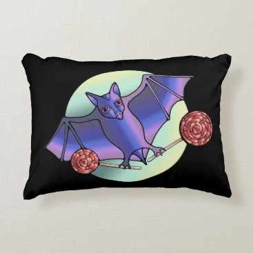 Halloween Themed Batty Lollipops Decorative Pillow