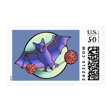 Halloween Themed Batty Lollipops Postage