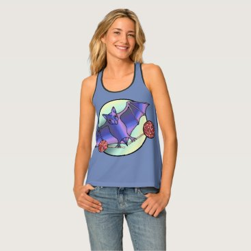 Halloween Themed Batty Lollipops Tank Top