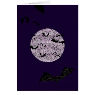 Halloween Themed Batty Moon - birthday card
