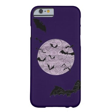 Halloween Themed Batty Moon - iPhone 6, Barely There Case