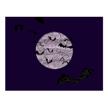Halloween Themed Batty Moon - postcard