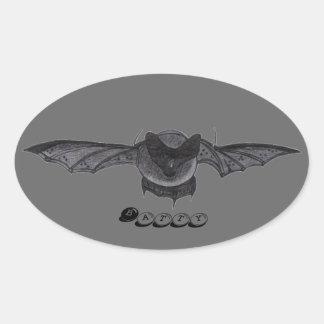 Batty...oval sticker