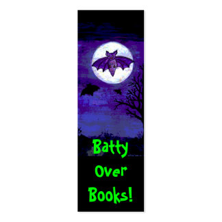 Batty Over Books! Bookmark Mini Business Card