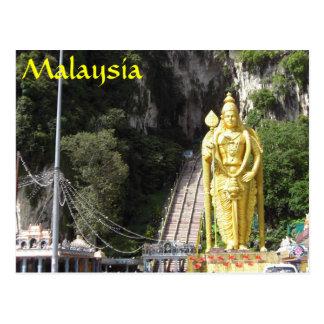 Batu excava la postal de Malasia de la estatua