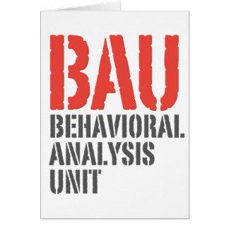 BAU Behavioral Analysis Units Greeting Card
