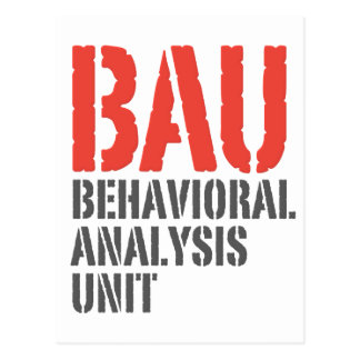 BAU Behavioral Analysis Units Postcard