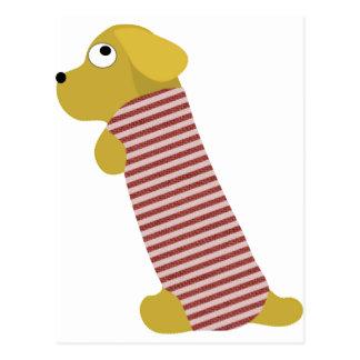 bau dog dressed postcard