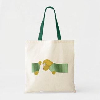 bau dog dressed tote bag