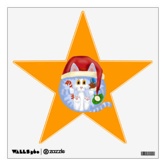 Bauble Cat Christmas Wall Sticker