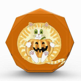 Bauble Cat Halloween Acrylic Award