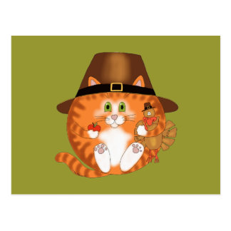 Bauble Cat Thanksgiving Postcard