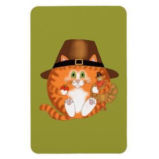 Bauble Cat Thanksgiving Rectangular Photo Magnet