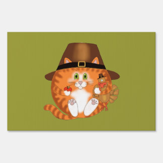 Bauble Cat Thanksgiving Signs