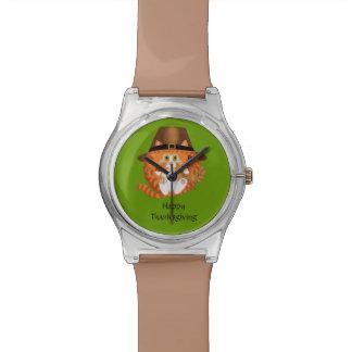 Bauble Cat Thanksgiving Wrist Watch