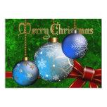 "Bauble Christmas Invitation 5"" X 7"" Invitation Card"