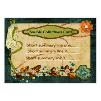 Bauble Collectives Custom 2 Sided Business Card Template