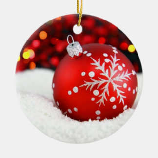 Bauble in Snow Ornament